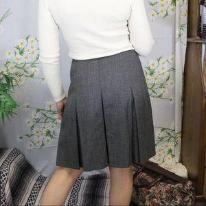 EUC ESCADA pleated grey high waisted skirt